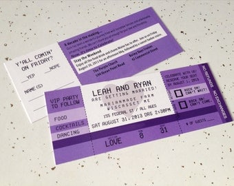 Concert Ticket Invitation-Double Sided