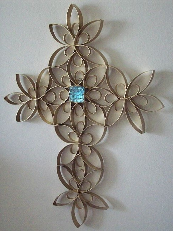 Items similar to t paper roll wrought iron cross craft for Cardboard crosses for crafts