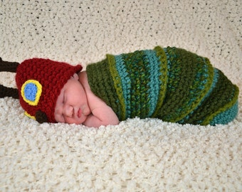 Very Hungry Caterpillar Costume / Hungry Caterpillar Photo Prop / Hungry Caterpillar Cocoon/ Newborn Photo Prop