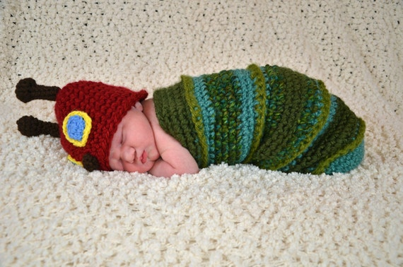 Crochet Caterpillar Baby Outfit Pattern : Unavailable Listing on Etsy