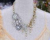 Elizabeth - STUNNING Vintage Brooch Necklace - One of a Kind SALE was 225.00