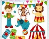Fun Time Circus Cute Digital Clipart, Circus Clip art, instant download, Circus Graphics, Big top circus clipart, Boy Juggling, Circus Tent
