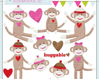 Clip Art Sock Monkey Clip Art sock monkey clip art etsy loves you cute digital clipart commercial use ok graphics clipart