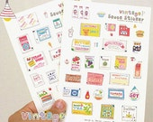 Hand-Picture Sweet Sauce Stickers - 2 sheets (5 x 7in)