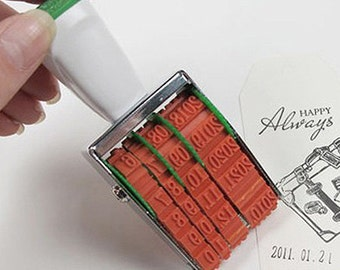 Date Rolling Stamp - 0.2 in (1.2 x 3.75in)