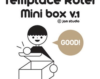 Template Ruler for Box Maker - Mini Box (2.7 x 2.7in)