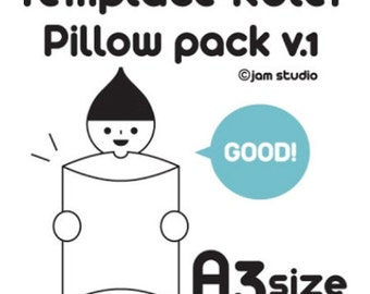 Template Ruler for Envelope Maker - Pillow Pack v.1 (7.7 x 9.8in)