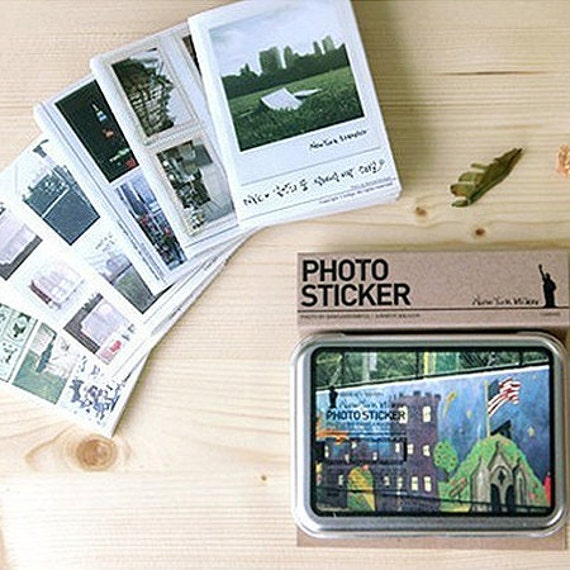 Photo Stickers in Iron Case / New York - 50 sheets (4.3 x 3.2in)