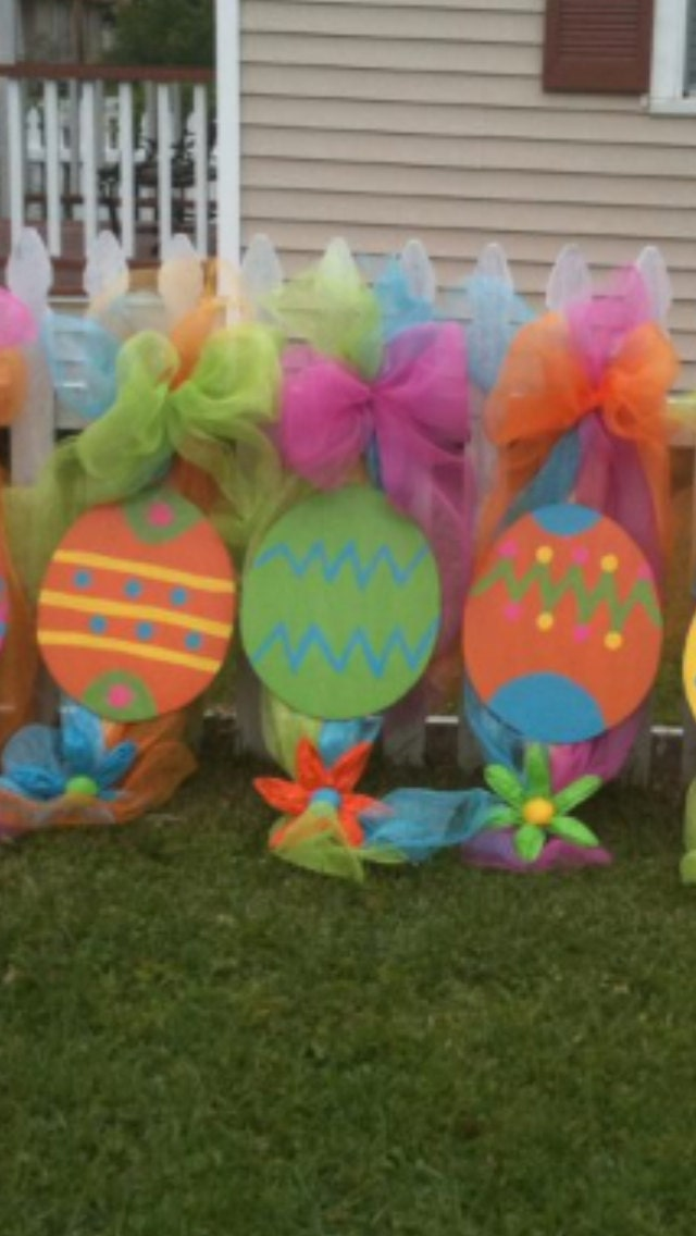 Easter egg wreath swag door hanger by lotsigns on etsy - Outdoor easter decorations ...