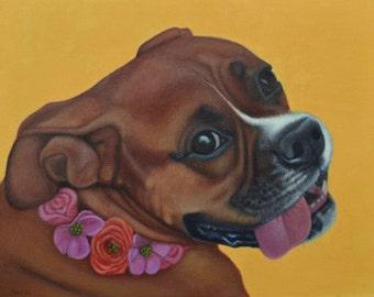 Boxer Dog Magnet  - Large Vinyl Dog Magnet -Boxer Art - Proceeds Benefit Animal Charity