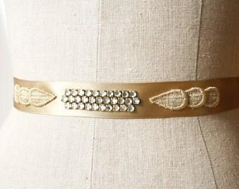 Gold Wedding Sash, Bridal Belt, Wedding Sash, Gold Sash, Bridal Sash
