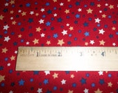 Sweet Liberty Print Patriotic Forty of July Red White and Blue Stars One Yard of Fabric by P and B Textiles