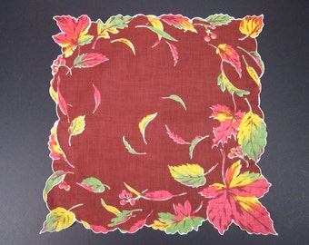 Vintage Handkerchief Autumn(vh41)