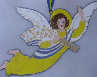 Hanging Paper-Mache' Guardian Angel