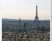 "Paris Photography - ""Eiffel Tower, Through the Haze"" - 5x5 Fine Art Photo by Lesley Sico"