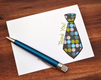 Baby Boy Thank You Notes / Baby Shower Thank You Notes / Baby Thank You Cards / Boys Thank You Note Big Tie Design