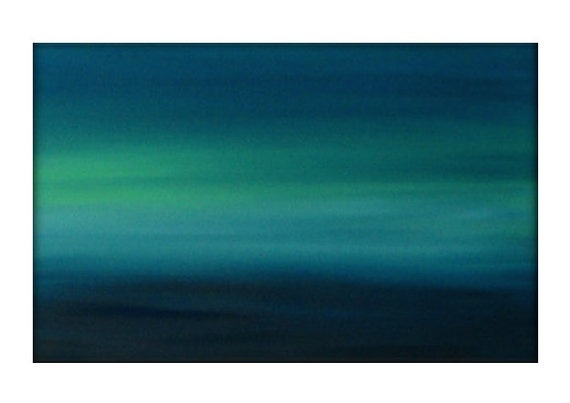 Abstract Seascape Original Painting on Canvas Contemporary/Modern Painting  - 24x36 - Blue-Greens, Baby blue, and more