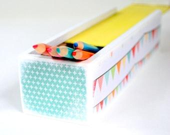 Happy Bunting Pencil Box - Pencil case - Desk Organizer