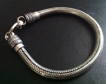 Silver rope chain bracelet, Men Silver bracelet, silver bracelet for women, bracelet Vintage style by Taneesi