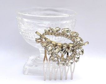 Rhinestone Hair Comb, Vintage Bridal Comb, Rhinestone Bridal Headpiece, Wedding Hair Comb, Vintage Wedding Headpiece, Diamante Hair Comb