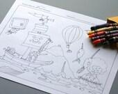Download and Print - Treasure Hunt Coloring Sheet