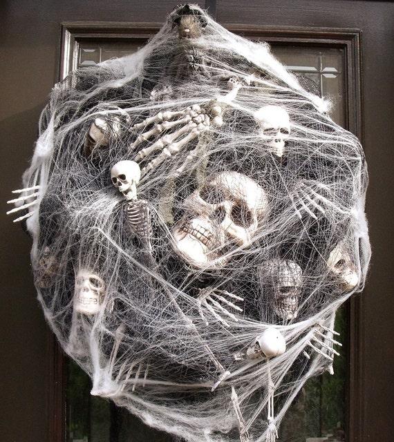 Sinister Halloween Wreath Skull Wreath Skull And Bones