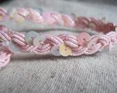 Sugar Sweet  Light Pink Sequin  Braid trim