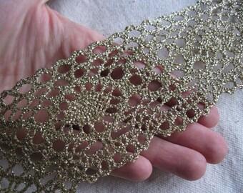 Metallic GOLD crochet flat lace