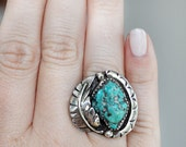 Vintage Chunky Turquoise Ring