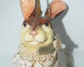 Katherine's Collection - Victorian Rabbit Ornament - Money Holder -  Wayne M Kleski