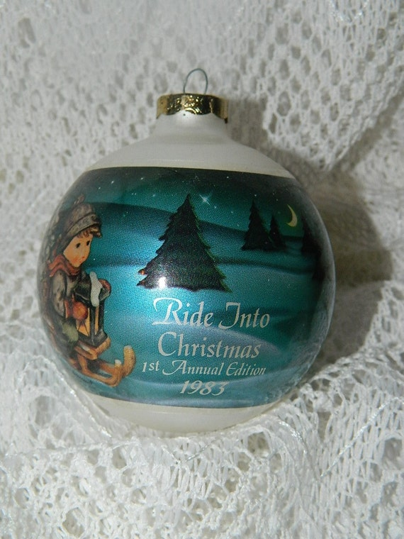 M.J. Hummel Glass Ornament Goebel 1983 Ride by MemeresAttic