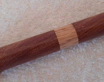 Handmade Large Figured African Mahogany Pen with an Oak band and Gold hardware, Handcrafted, custom made pen, recyced wood,rclaimed wood,163