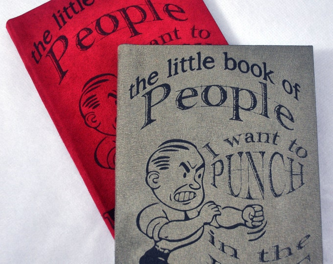 People I Want to Punch in the Face| Personal journal | writing journal | journal diary | Traveler's Notebook | Travel Journal |Blank Book