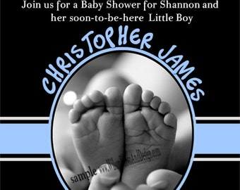 Ten perfect Fingers Ten perfect Toes Baby Shower Invitation for BOY or GIRL