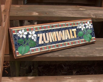 Personalized Mosaic Signs  /  Plaques - Name or Address