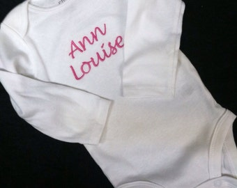 Sale / I goofed / embroidered / monogrammed / personalized onesie / Ann Louise name