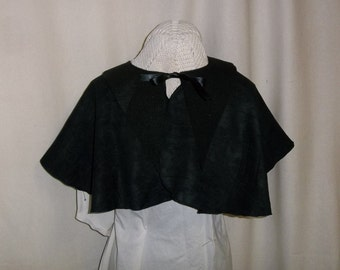 Black Capelet- Suede Costume Cape