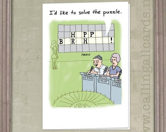 Solve The Puzzle - Birthday Card