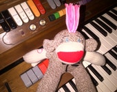 Pink and Punky Sock Monkey