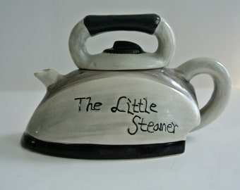 "Mid-Century ""The Little Steamer"" Sugar Bowl"