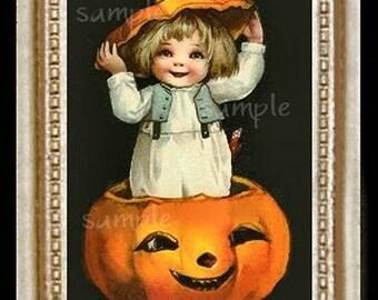 Halloween Child Miniature Dollhouse Art Picture 1532