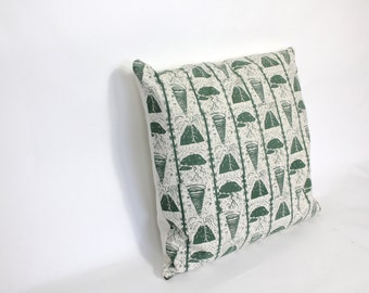 Large Natural Disaster Cotton Printed Cushion. Archive sale