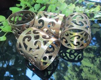 Napkin Rings Brass Set of 4