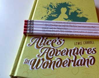 Alice's Adventures in Wonderland Wrapped Pencil Set