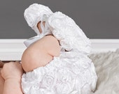 Girls white diaper cover baby diaper cover toddler diaper cover white baby girl nappy cover - Rosie Diaper Cover