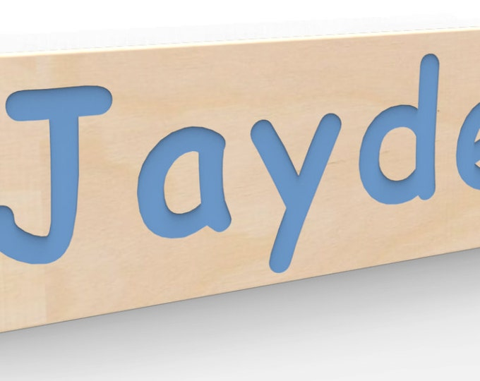 Wall Name Sign Wide Custom Made and painted in your choice of color.