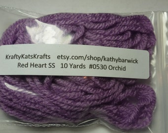 10 Yards Red Heart Super Saver Yarn #0530 Orchid