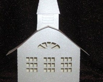 DIY 3D church from the ledge village series