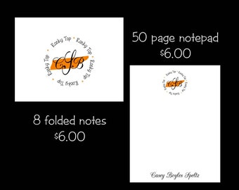 Personalized Tennessee Note cards or Note Pads...your choice
