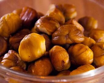 SCRUB ~ Chestnuts and Brown Sugar Body Scrub ~ Sugar or Sea Salt Body Polish 8 oz